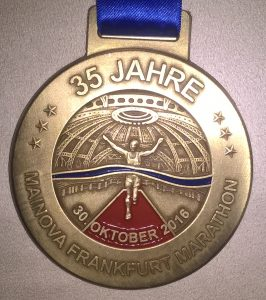 Medallie Frankfurt Marathon 2016